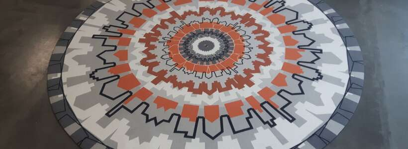 rond design karpet